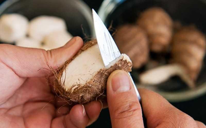 Giữ tay và khoai tây khô ráo trước khi gọt khoai tây