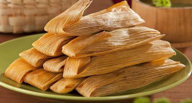 Tamales ấn tượng bởi lớp vỏ màu vàng nhạt