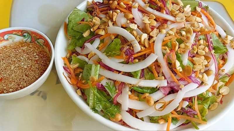 salad sữa đậu