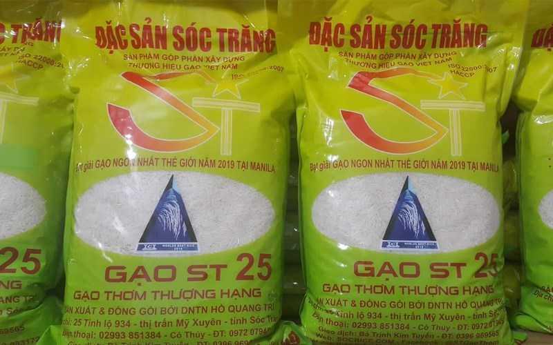 Cách phân biệt gạo ST25 thật và giả.