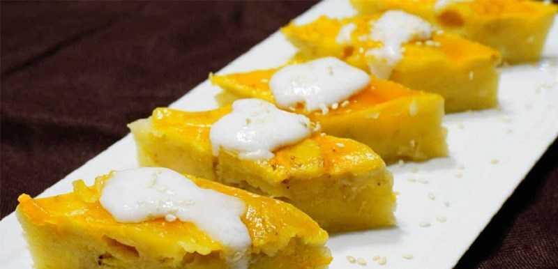 Bánh chuối hấp nước cốt dừa