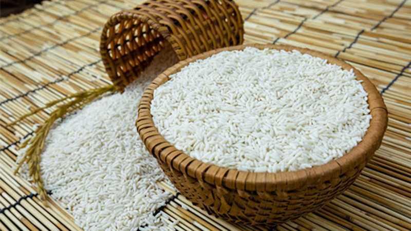 Thành phần món ăn bột nếp tươi và bột nếp khô
