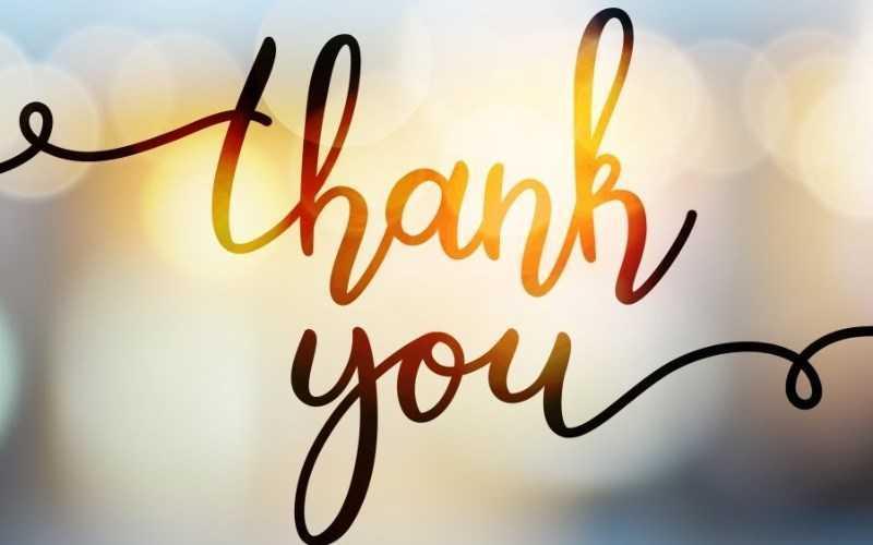 Cảm ơn tất cả mọi người