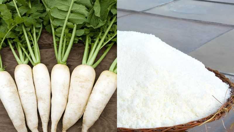 Nguyên liệu làm củ cải muối (dưa hấu)