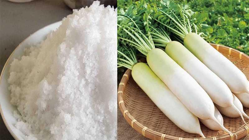 Thành phần món củ cải khô