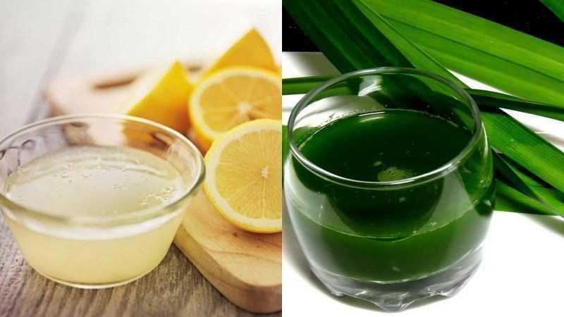 Dùng nước chanh hoặc nước lá dứa