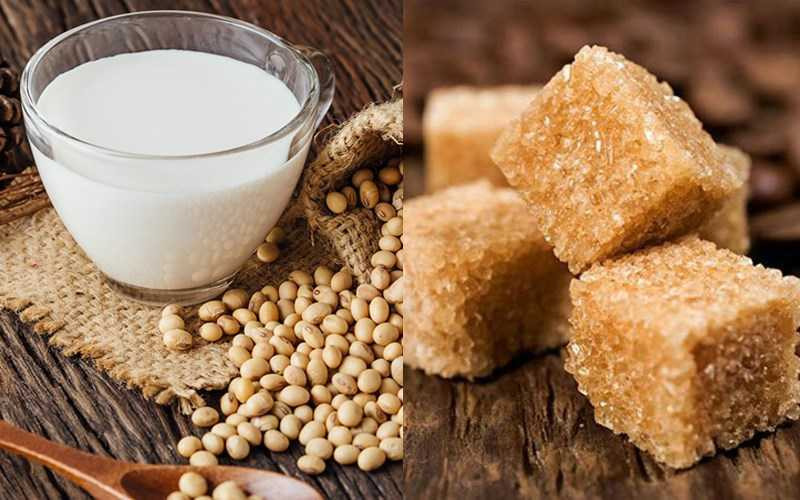 Sữa đậu nành và đư�ng đen