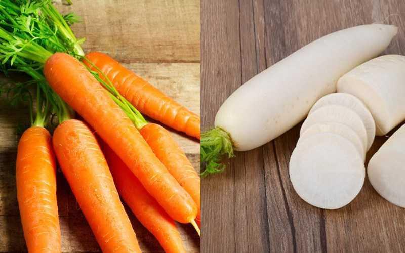 Cà rốt và củ cải