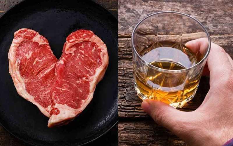 Thịt bò và rượu
