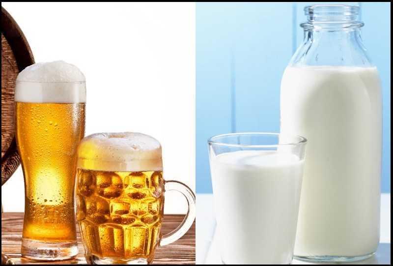 Rửa mặt bằng bia và sữa