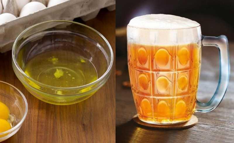Rửa mặt bằng bia và trứng