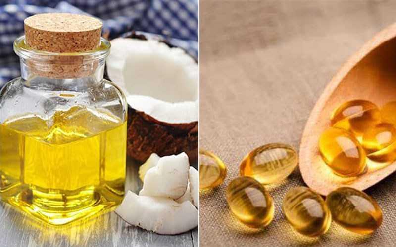 Kết hợp dầu dừa và vitamin E