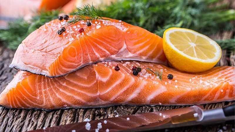 Cá hồi có lợi cho việc dạy dày