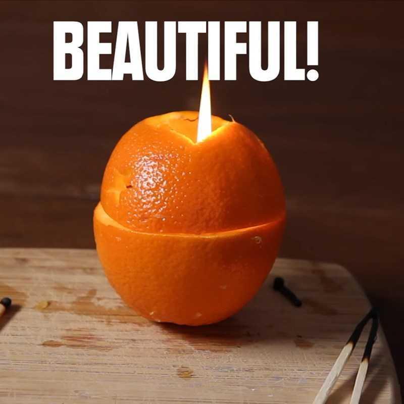 Làm đèn dầu bằng cam