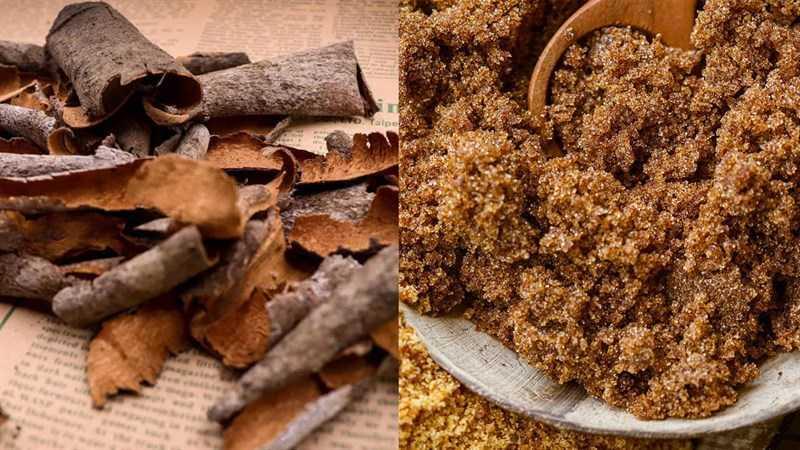 Nguyên liệu làm món ăn từ bột quế