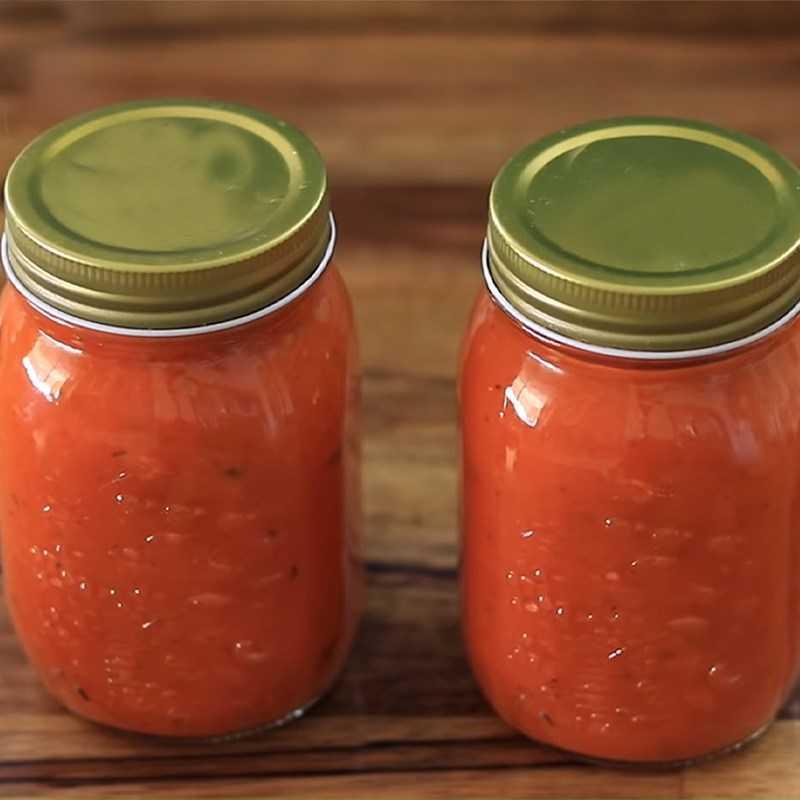 Bước 4 Sốt cà chua đã hoàn thành