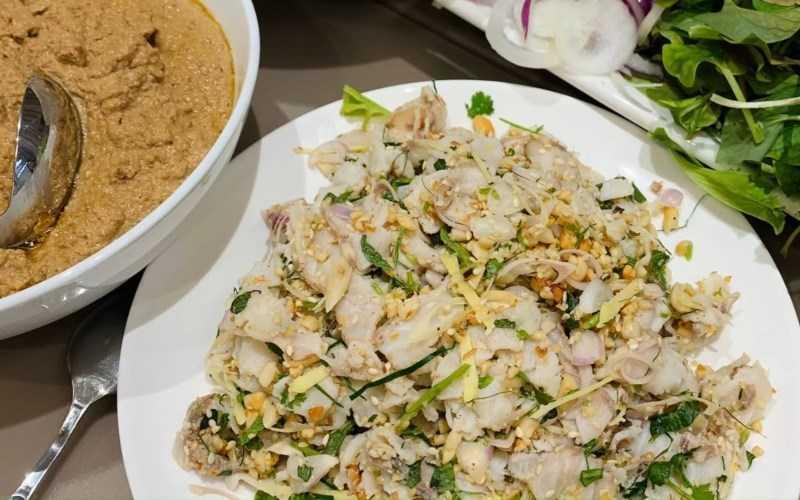 Salad cá tầm