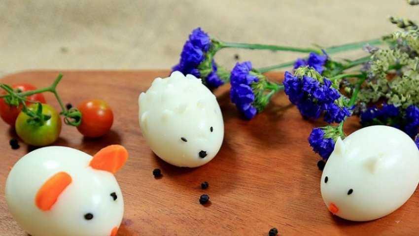 Mẹo tạo hình động vật từ trứng luộc