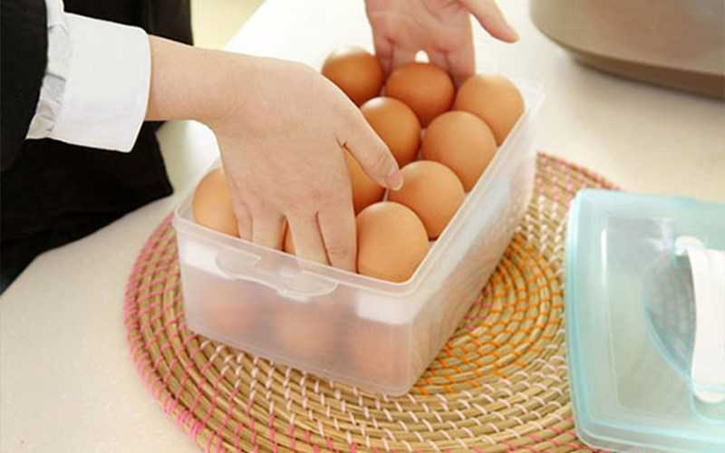 Sử dụng hộp đặc biệt để đựng trứng