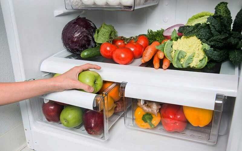 Sắp xếp cây vào ngăn bảo quản tủ lạnh