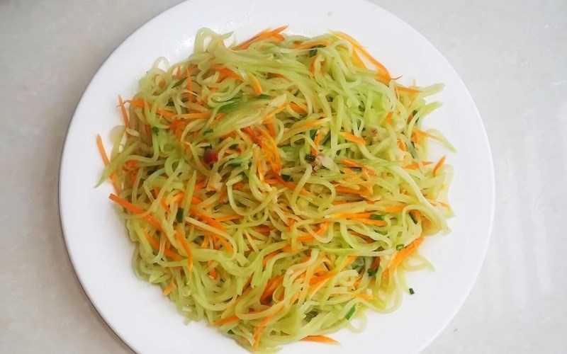 Chashu với cà rốt