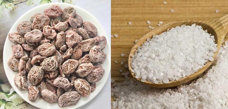 Cách làm muối mận rang muối ớt