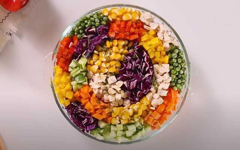 Salad cầu vồng