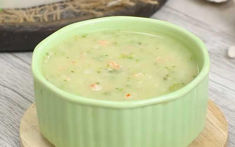 Súp tôm bông cải xanh