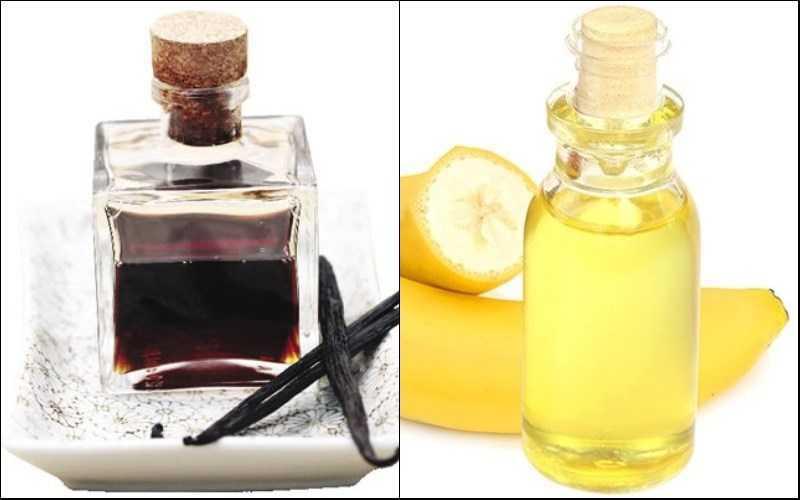 vani và dầu chuối như hoặc khác