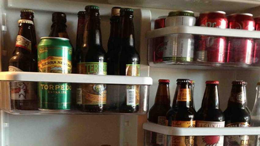 Bảo quản rượu, bia, nước ngọt trong tủ lạnh