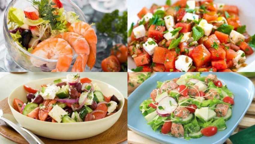Sự kết hợp của 20 món salad